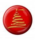 pulsante rosso 3DD con albero di natale a spirale