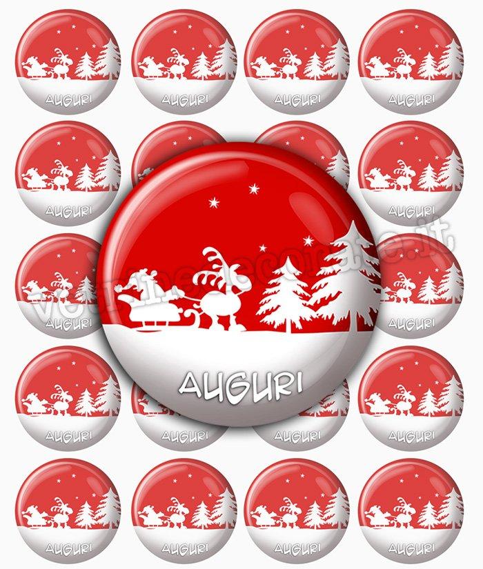 Chiudipacco Con Babbo Natale Sulla Slitta