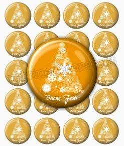 bollini chudipacco adesivi dorati con albero di Natale