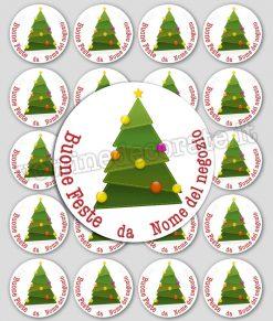 chiudi pacco con albero natalizio