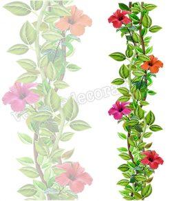 vetrofania decorazione floreale con gerbere