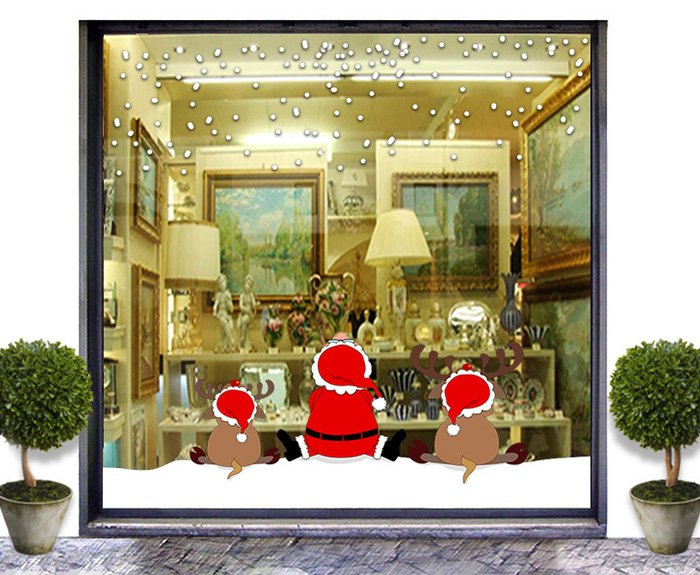 Estremamente Consigli per la decorazione natalizia della vetrina ZP92