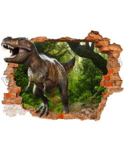 Dinosauro T-rex etra attraverso un buco