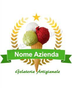 gelato stemma aziendale nastro verde
