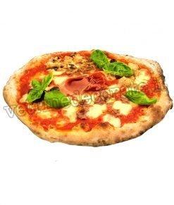 Pizza tonda capricciosa su adesivo