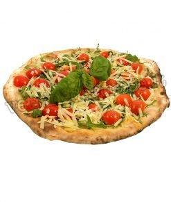 Pizza rucola, pachino e parmigiano in adesivo