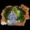 Gorilla con boccale di birra