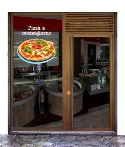 Vetrina pizzeria con pizza capricciosa