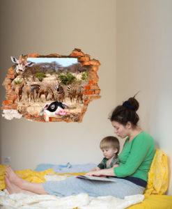 decorazione parete della stanza di un bambino