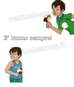 due bambini che mangiano gelati
