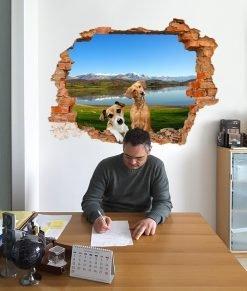buco sulla parete della stanza d'ufficio