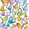 adesivo farfalle colorate varie dimensioni