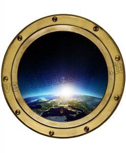oblò di una navicella spaziale