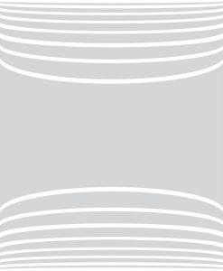 decorazione sabbiata con fasce arcuate