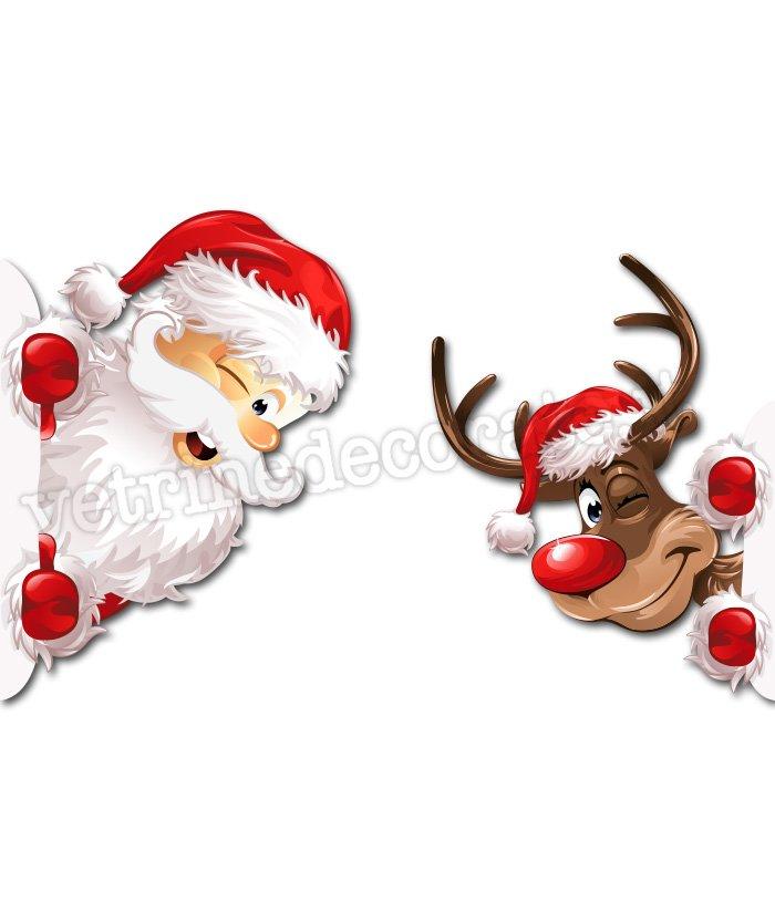 Babbo Natale Con Le Renne.Babbo Natale In Affaccio Con Renna