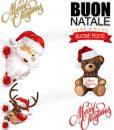 fascia natalizia con babbo natale e renna