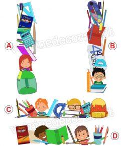 moduli con elementi di scuola