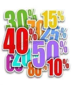 adesivo gruppo percentuali di sconto