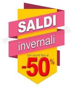 adesivo scritta saldi invernali -50%