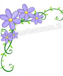 decorazione angolare con fiori lilla