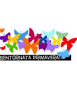 gruppo di farfalle in volo