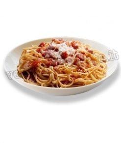 vetrofania piatto di spaghetti all'amatriciana
