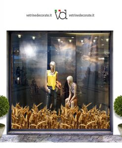 Wheat field module on a shop window.