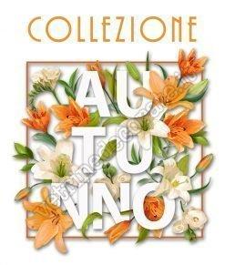 vetrofania scritta collezione d'autunno