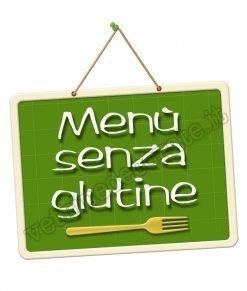 adesivo con scritta menù senza glutine