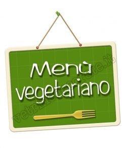 adesivo con scritta menù vegetariano
