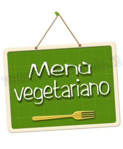 cartello con scritta menù senza vegetariano