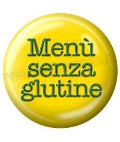adesivo menù senza glutine