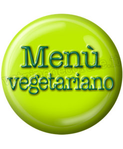 adesivo menù vegetariano