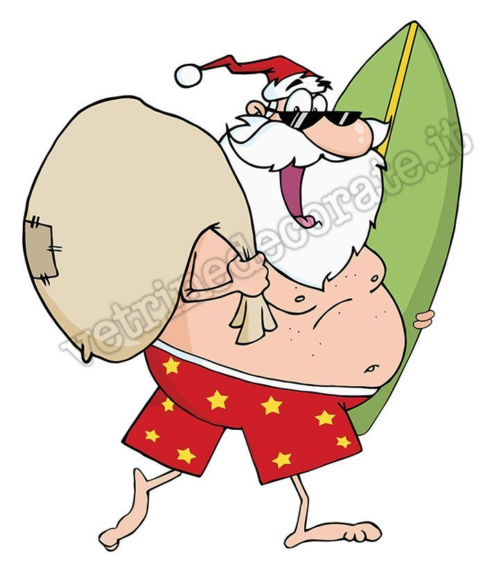 Immagini Babbo Natale Con Sacco.1012 Babbo Natale Con Sacco Dei Regali E Tavola Da Surf
