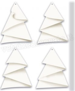 Four paper christmas trees