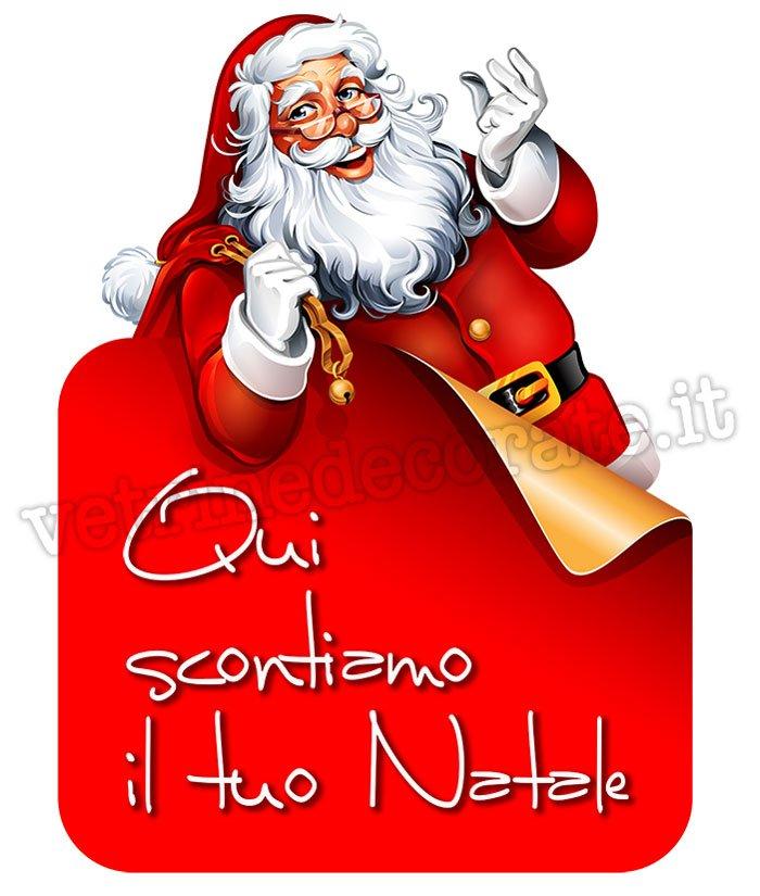 Babbo natale con il sacco dei regali sconta il tuo natale - Decorazioni natalizie da ritagliare ...