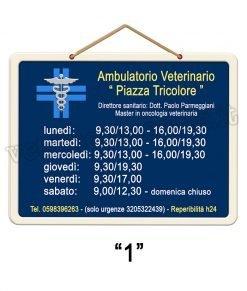 tabella orari ambulatorio veterinario