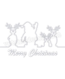Silhouette-father-christmas-reindeers