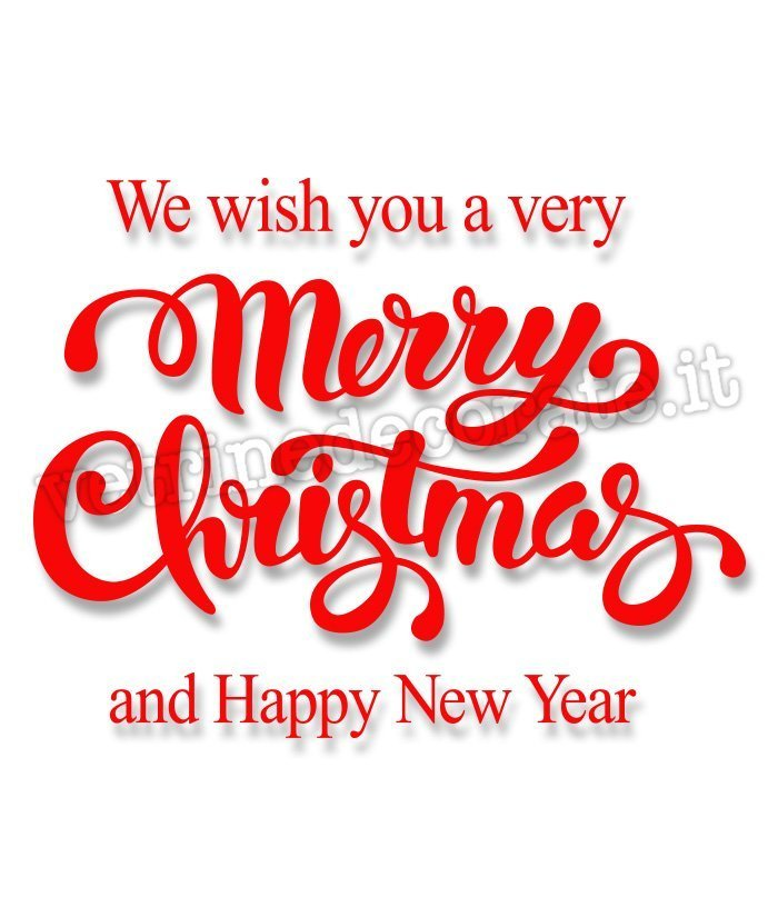 1033 merry christmas and happy new year text italian window decals 1033 merry christmas and happy new year text