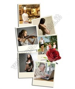 adesivo foto vita di donna