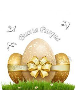 vetrofania uova pasqua e rondini