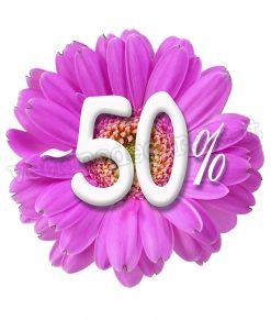 vetrofania gerbera con sconto 50%