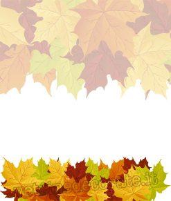adesivo modulo foglie autunnali