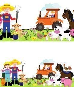 contadini con animali domestici