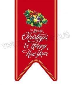 vetrofania stendardo merry christmas