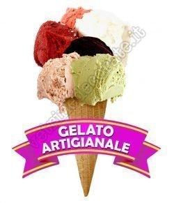 vetrofania cono gelato artigianale