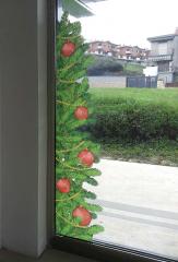vetrofania decorazione natalizia