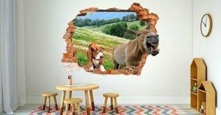cane e asino che raglia