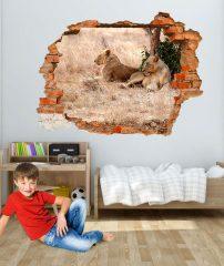 adesivo murale leoni